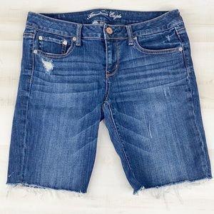"""AE Denim Bermuda Stretch Shorts 8"""" Rise"""